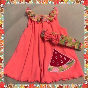 Other - 🍉0-3 Month Swing Sleeveless Dress & Headband🍉🍉